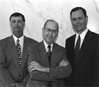 Drs. Carlos Moore, Justin Longnecker and Bill Petty in 1997